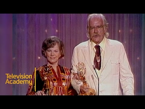 Will Geer and Ellen Corby Win Best Supporting Actor and Actress In A Drama  Emmys Archive 1975