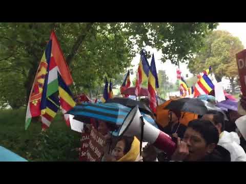 13 September 2017, Tibetans against  Dalai Lama lying part3/3 Germany