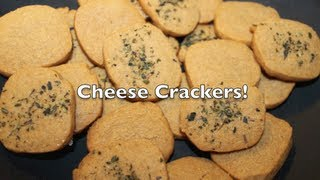 Whole Wheat Cheese Cracker Recipe/how-to!