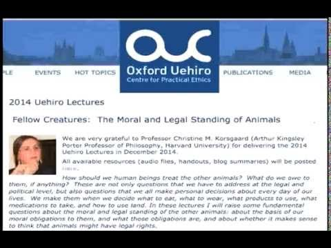 Uehiro Lectures 2014 (lecture 2)--Christine Korsgaard, Harvard University (Audio only)