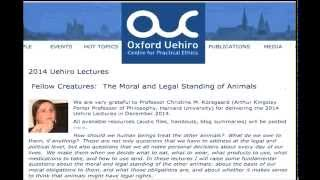 Uehiro Lectures 2014 (lecture 2)--Christine Korsgaard, Harvard University (Audio only) Thumbnail