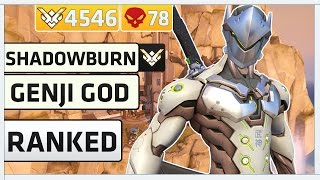 rank 1 genji pro player shadowburn   overwatch