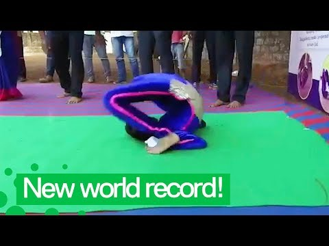indian girl sets world record