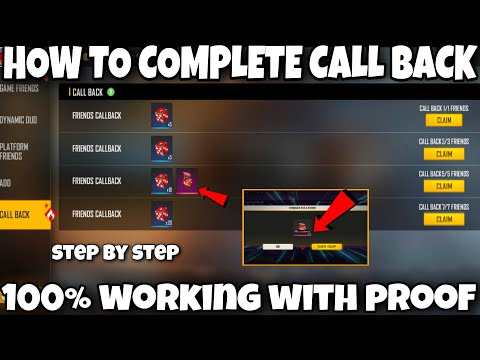 how to complete call back event in free fire    free fire call back event full details