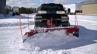 Plowing Deep Drifted Snow with 1 ton Chevy Silverado Duramax Truck
