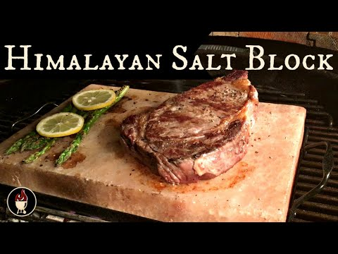 Grilling With A Himalayan Salt Block | Steak Cooked On A Salt Tile