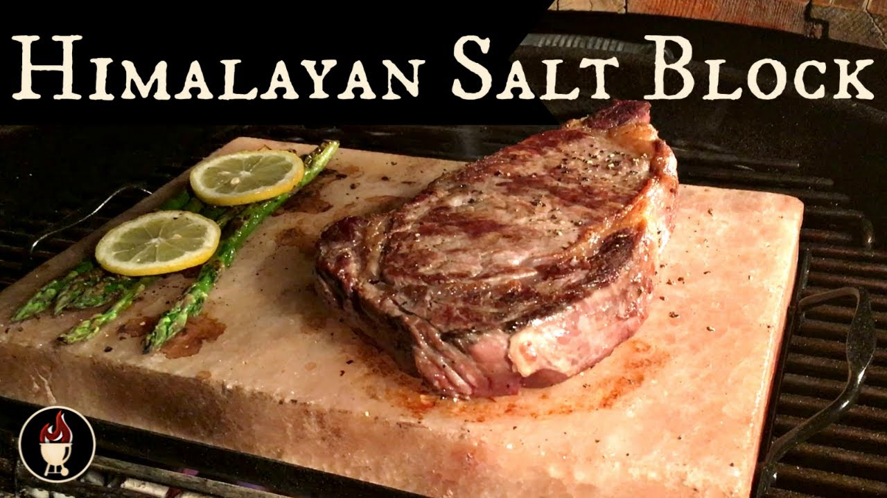 Grilling With A Himalayan Salt Block Steak Cooked On Tile