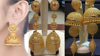 Latest Gold Jhumka Designs for Women with Weight and Price 2019