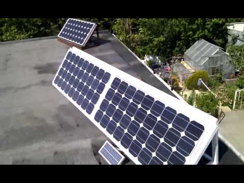 Solar grid tied garage setup UK - The begginings
