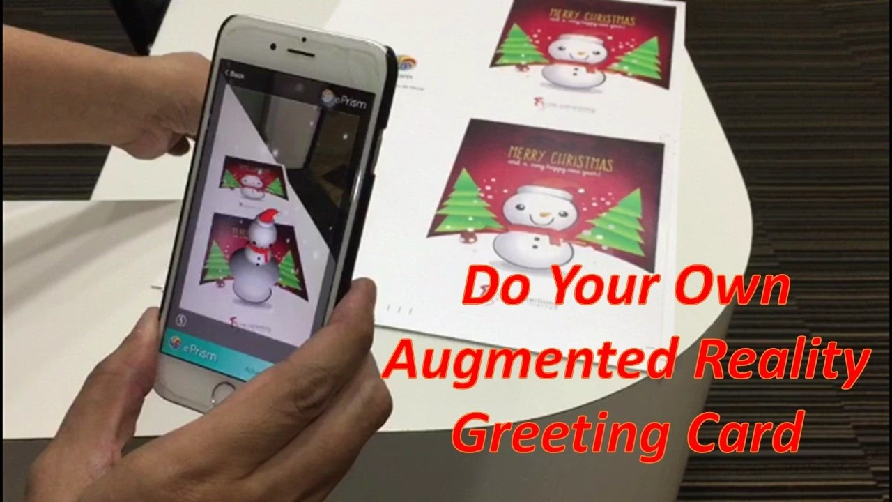 How To Do Your Own Augmented Reality Ar Greeting Card Youtube
