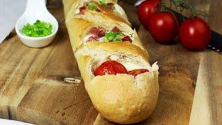 GEFÜLLTES Ei-Mozzarella-BAGUETTE