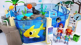 Let's go to Playmobil Family Fun Aquarium with Sea! Baby Shark, Nemo is playing! | PinkyPopTOY