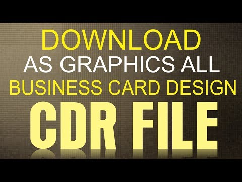 Coreldraw X7 Tutorial How To Download Business Card Cdr