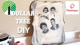Dollar Tree DIY | How to transfer a photo image onto wood