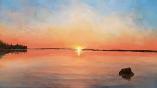 Clear Water Lake Sunset 4