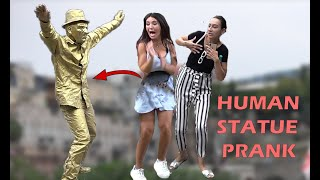 HUMAN STATUE PRANK 2019 5  AWESOME REACT ONS   Best Of Just For Laughs