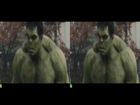 VR video cardboard - Hulk vs Hulkbuster, Captain America vs Ultron P2 [3D Side By Side]