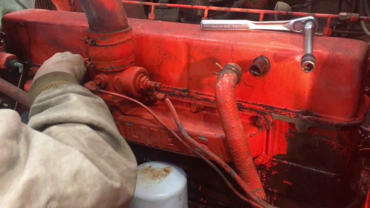 Allis Chalmers 180 Wiring Diagram Oil Pump Restoration Pt2 Injection Timing And On For