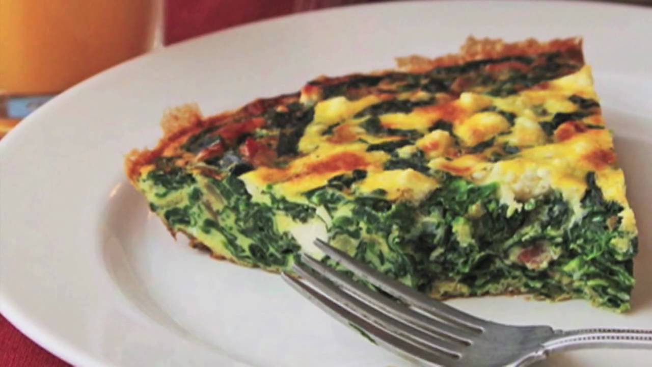 Spinach and Feta Pie Recipe - Spinach Feta Oven Omelet - YouTube