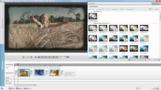 Use self-created Nero Film Effect templates in Nero Video Express mode