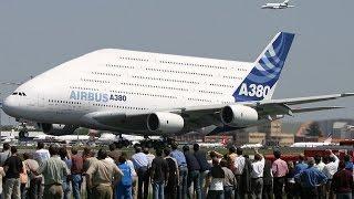 Самый большой самолёт в мире — самолёт Airbus A380