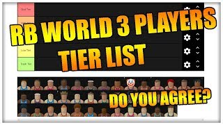 RB WORLD 3 PLAYERS TIER LIST - DO YOU AGREE? Video