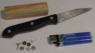 Лайфхак!!!Точилка ножей из зажигалки