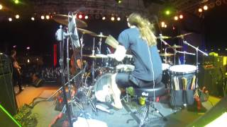 """Annihilator - Mike Harshaw Drum Cam - """"No Way Out"""" - 70000 Tons of Metal Pool Deck"""