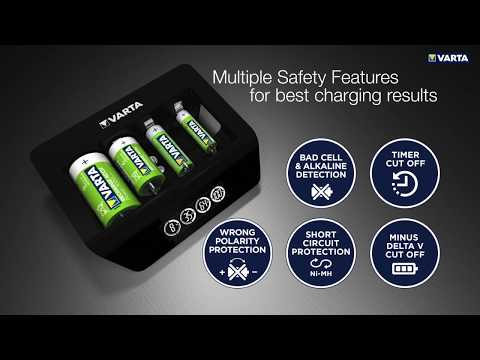 Varta LCD Universal Charger+ 4 Μπαταριών Ni-MH Μεγέθους AA/AAA/9V/D