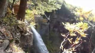 Rappeling and Tyrolean Traverse at Kaaterskill Falls, NY