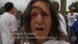 Arizona Immigration Law Protested At Florida Marlins Game