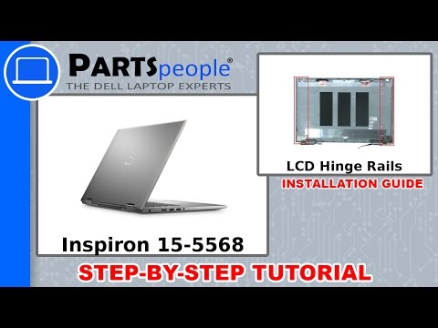 Dell Inspiron 15-5568 (P58F001) LCD Hinge Rails How-To Video Tutorial