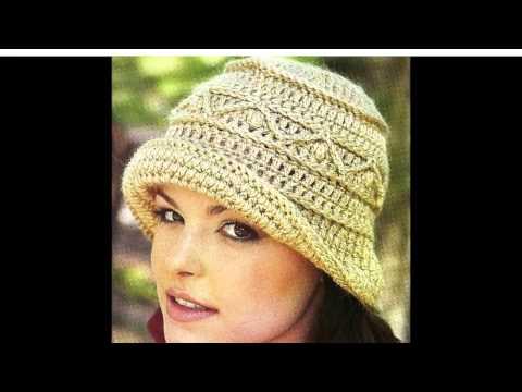 Шикарные  вязаные шляпки и панамки для женщин