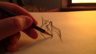 ASMR drawing #2 with pencil (whispering, sketch sounds)