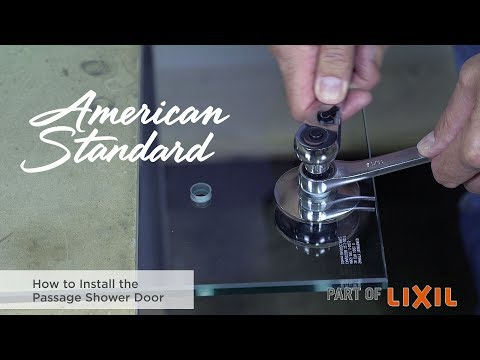 How To Install The Passage Shower Door By American Standard