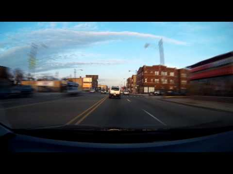 Driving on North Avenue from Melrose Park, IL to Humboldt Park Chicago