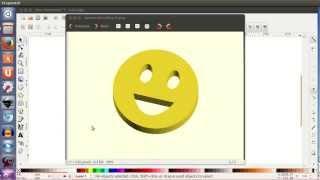 Tutorial openscad 2: Extruyendo una cara sonriente! (24/28)