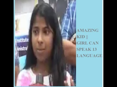 Amazing Indian Kid || Girl Speaks 13 Language ||