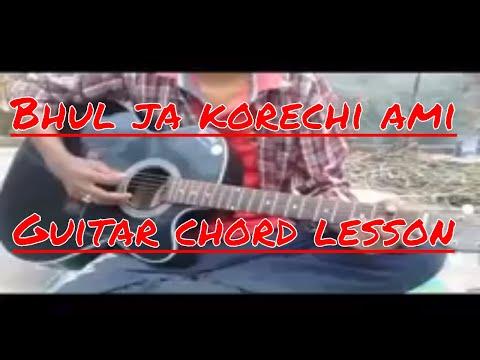 Bhul Ja Korechi Ami Guitar lesson |...