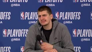 Nikola Jokic Postgame Interview - Game 6 | Nuggets vs Blazers | 2019 NBA Playoffs