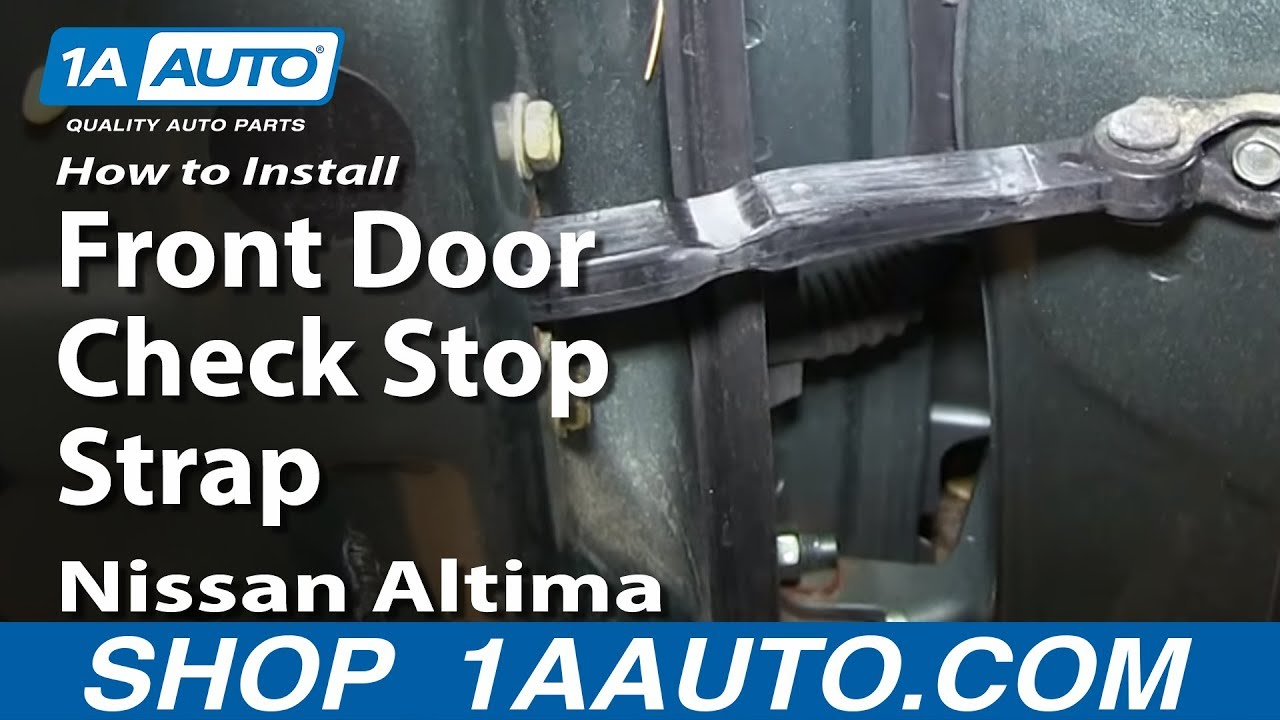 How To Install Replace Front Door Check Stop Strap 2002 06