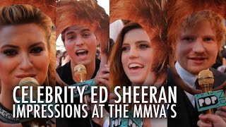 Celebrities Do Ed Sheeran Impressions on the MMVA Red Carpet