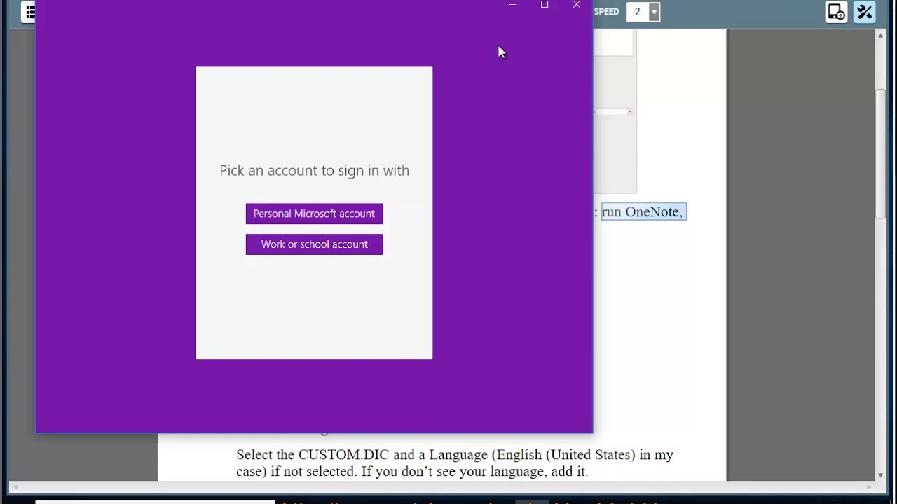 add word to onenote dictionary