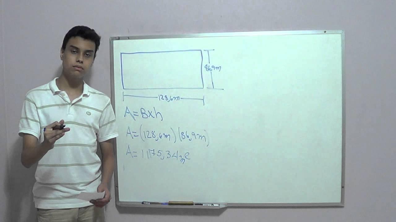 Rea y per metro de un rect ngulo youtube - Como sacar los metros cuadrados de una habitacion ...