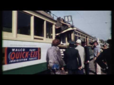 W Class Trams collide on St Kilda Rd, 1983
