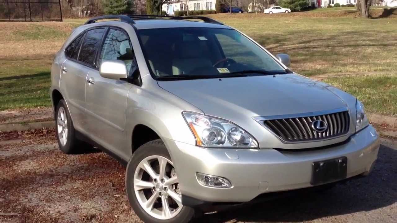 2008 lexus rx350 review walk around start up rev test drive youtube