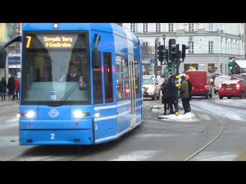 Stockholm tram in City Centre