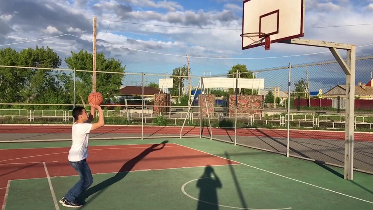 f5b0373a Бросок баскетбольным мячом в кольцо, в замедленном действии - YouTube