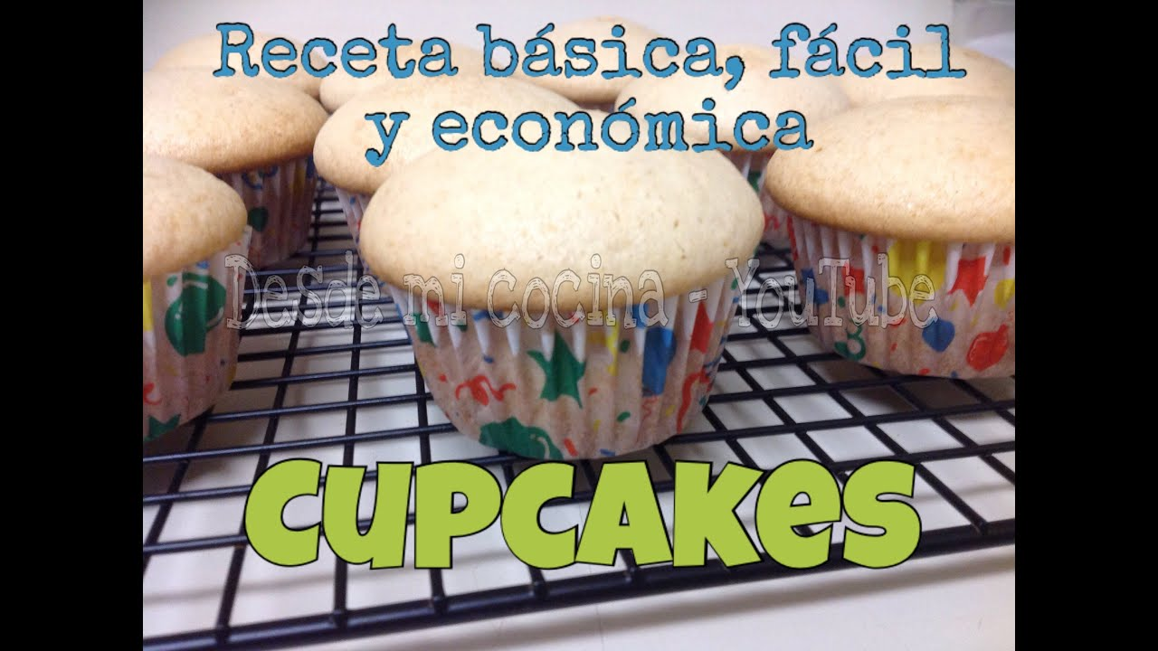 receta facil cupcakes