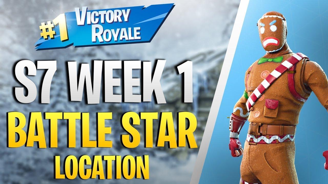 Secret Battle Star Location Season 7 Week 1 Challenge Fortnite
